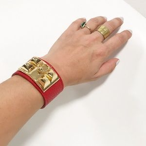 collier de chien style wrist cuff bracelet